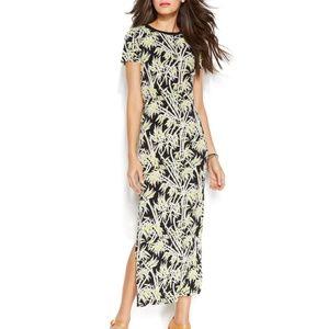 NWT! Michael Kors Palm Print Maxi Dress